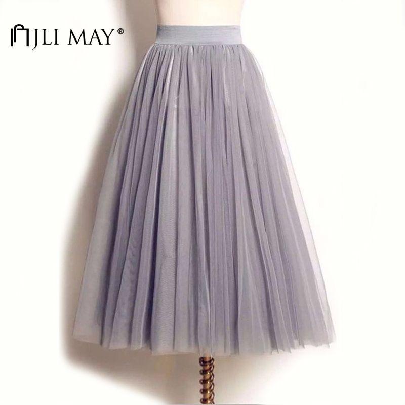 851c46e329 2019 Jli May Long Adult Tulle Skirt Wedding Maxi 3 Layers Black ...