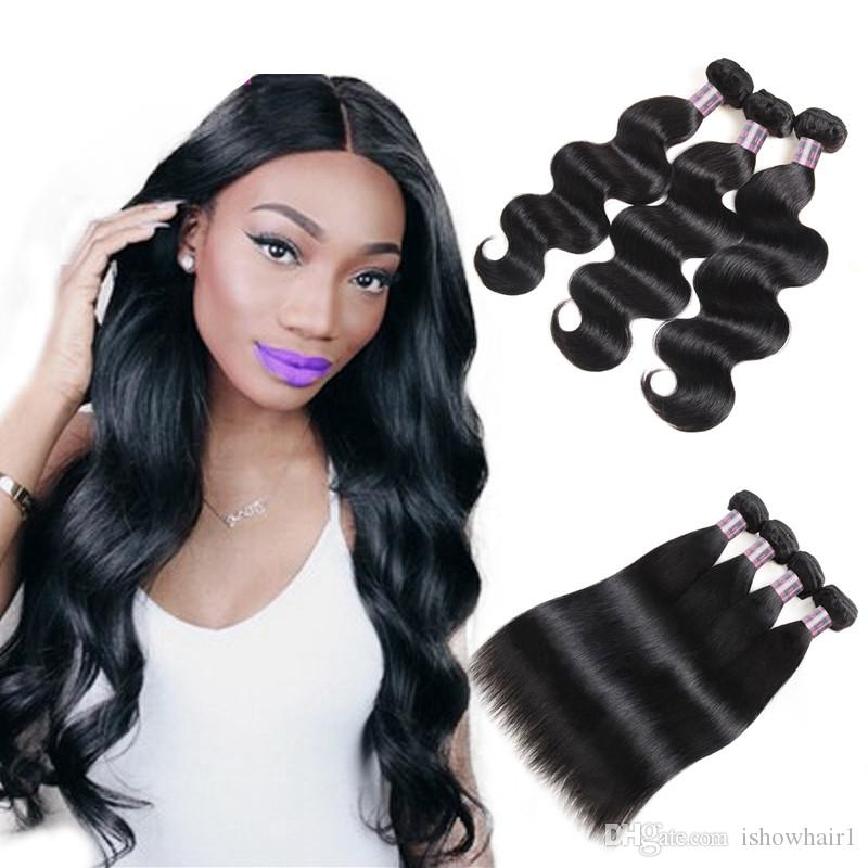 8A Mink Brazillian Straight Hair Extensions Unprocessed Peruvian Human Hair Bundles 3/4/5pcs Brazilian Body Wave Hair Weave Bundles