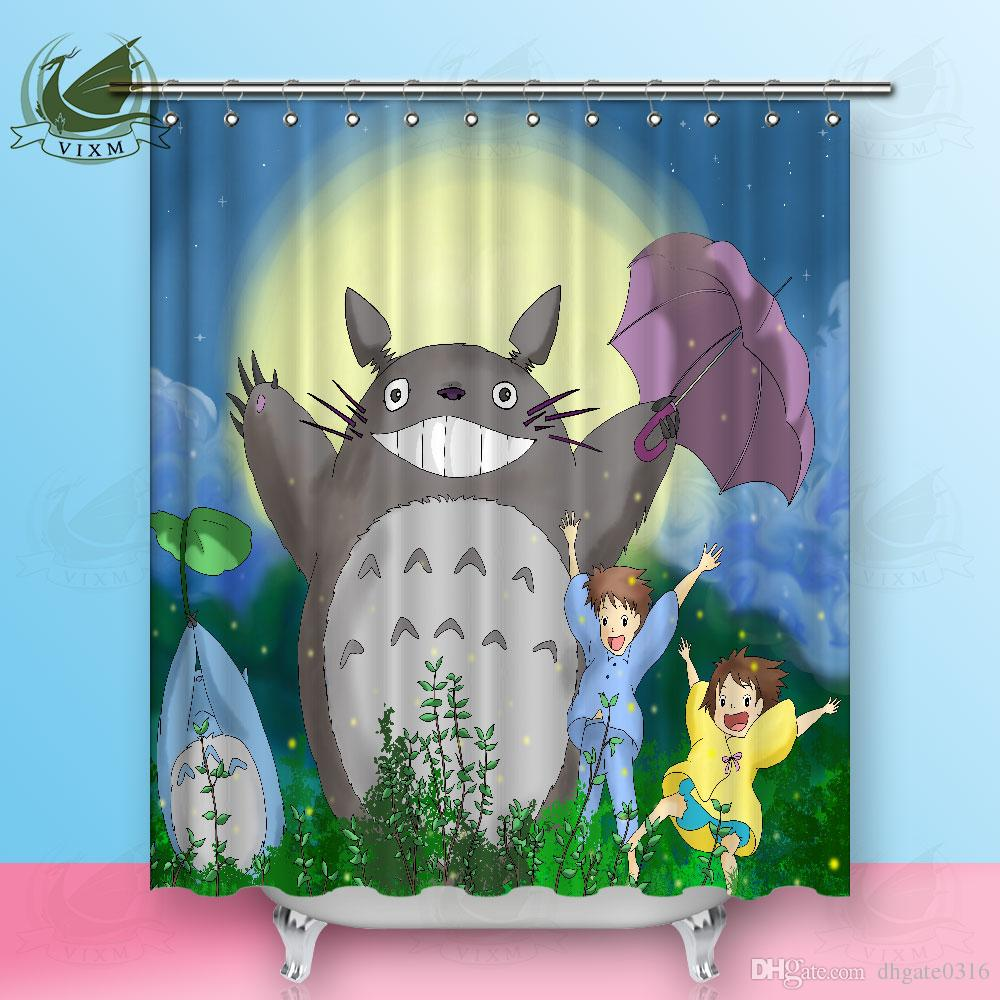 Vixm Japanese Anime Cartoon Cute Tortoise Shower Curtains Movie Poster Waterproof Polyester Fabric Hanging For Home Decor UK 2019 From Dhgate0316