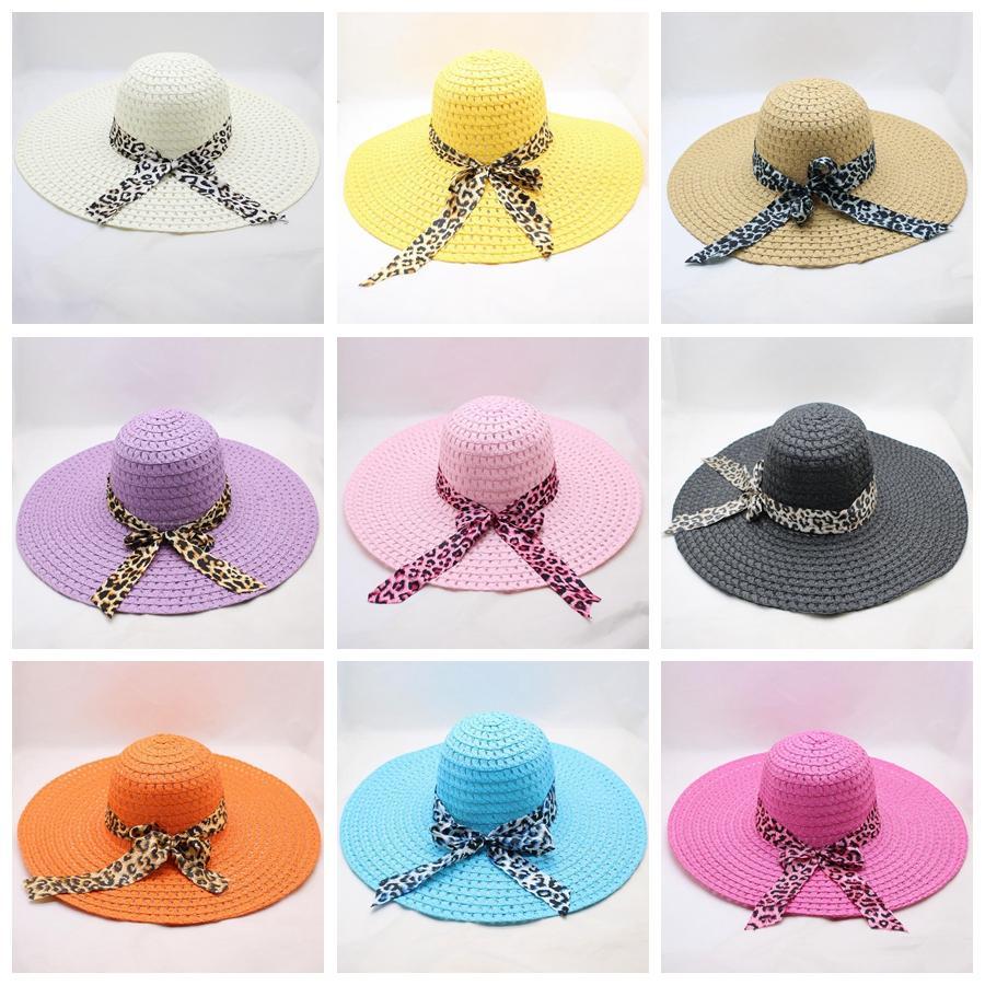 bfcfd64a7 Woman Wide Brim Beach Hat Summer Fashion Floppy Fold Sun Hat Lady Outdoor  Sun Protection Straw Hat TTA979