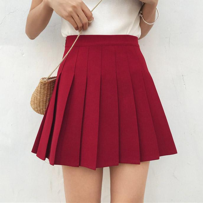 04732f00cf9f High Waist Lolita Pleated Skirts Girls A-line Mini Sailor Skirt Plus Size  School Uniform Skirts High Quality Skirts Skirts Skirts Online with  $29.95/Piece ...