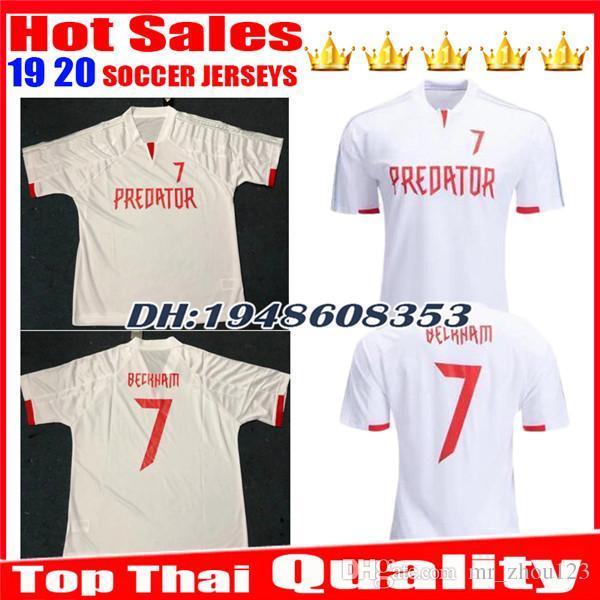 best service 46e92 fc609 Top-Qualität 7 Beckham Fußball-Trikot-Souvenir-Edition Limited Edition  Predator David Beckham weißes Trikot FOOTBALL Jerseys Uniformen SHIRTS