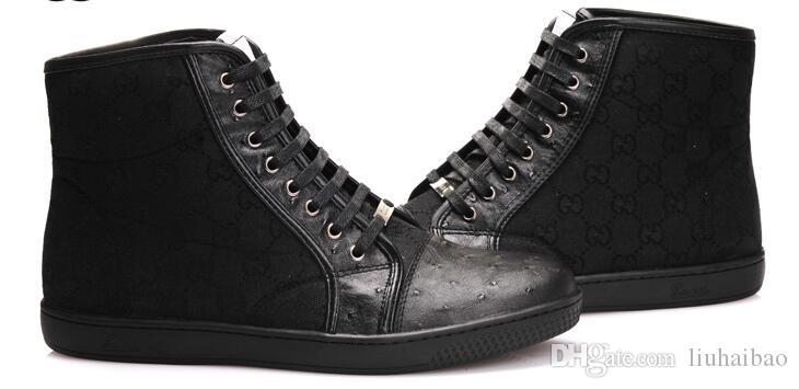 9555fc9a Compre 2019 Nuevo Diseño Hombre Botas De Cuero De Alta Calidad Cómodos Botines  Moda Casual Zapatos Para Hombre Alta Ayuda Zapatillas Tamaño: EU40 47 A ...