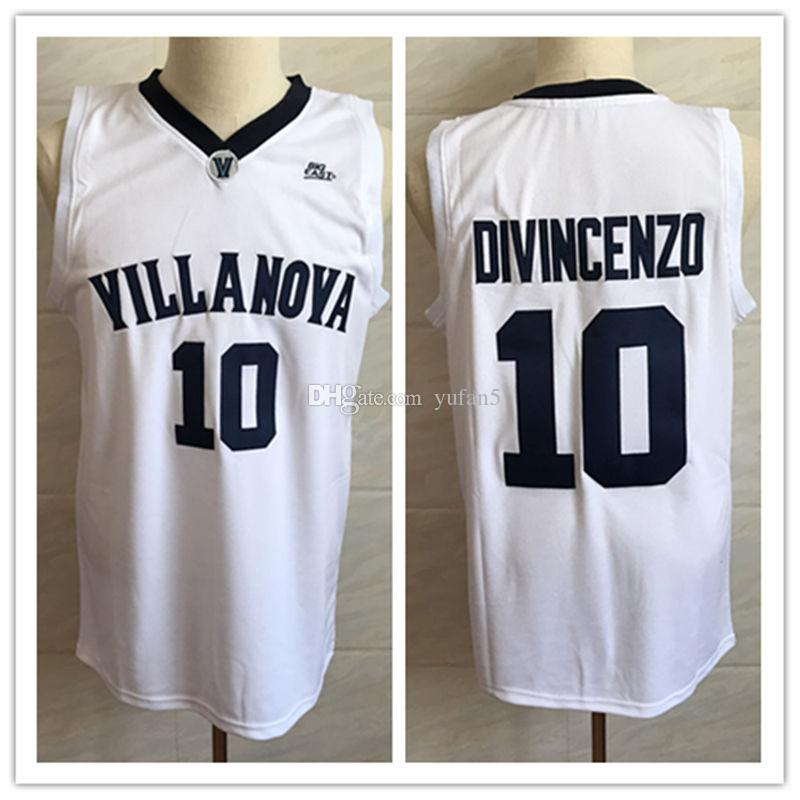 3342bf3e7 2019  10 Donte DiVincenzo Villanova Wildcats College Retro Classic  Basketball Jersey Mens Stitched Custom Number And Name Jerseys From Yufan5