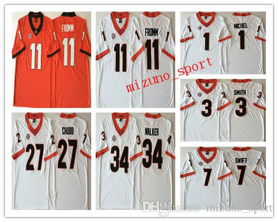 d6c3f252e 2019 NCAA Georgia Bulldogs Men S College Jerseys 11 Jake Fromm 27 Nick Chubb  7 DAndre Swift 3 Roquan Smith Stitched Logos Football Jersey From  Mizuno sport