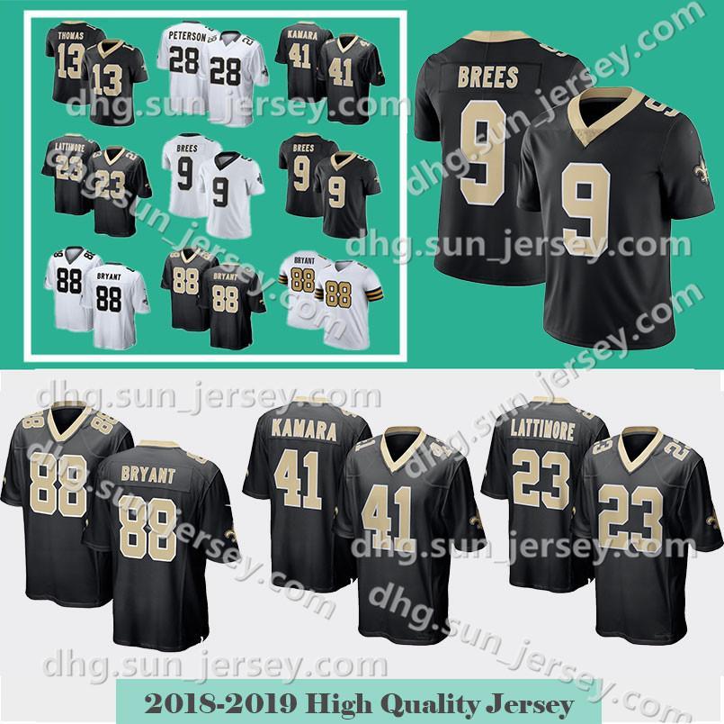 cheap for discount 404aa 90377 41 Alvin Kamara Jersey Orleans 9 Drew Brees Saints 23 Marshon Lattimore  Mens New 88 Dez Bryant 13 Thomas 28 Peterson Limited jerseys
