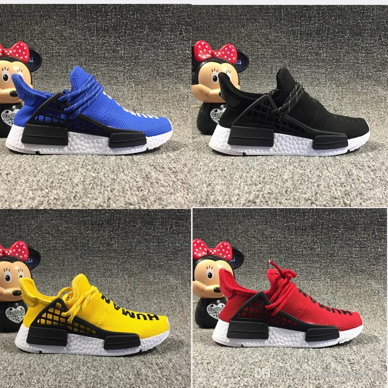 269c55d04 Pharrell Williams Human Race Infant Kids Running Shoes Red Core Black Yellow  Blue Toddlers Children Outdoor Sports Sneakers Boy Girl Trainer Boy Sports  ...