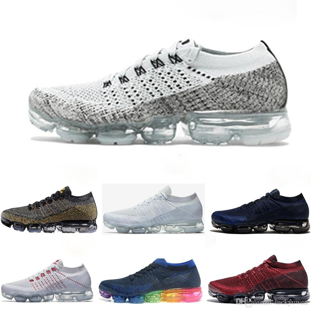 low priced ceace a622a Großhandel Nike Air Max Airmax Vapormax Flyknit 2.0 Mens Air Laufschuhe  Saphir 2018 Farbe Neue Art Frauen Sport Schuhe Damen Schuhe Turnschuhe  Athletic ...
