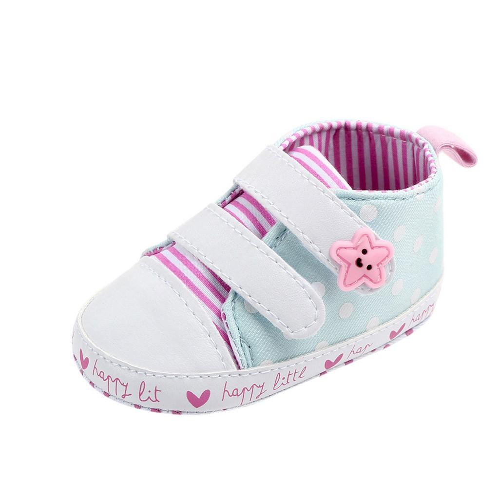 07bf66100 Compre Zapatos Para Bebés 2019 Moda Para Niños Pequeños Zapatos Para Bebés  Estrella De Punto Con Rayas Primeros Excursionistas A  45.06 Del Askkit