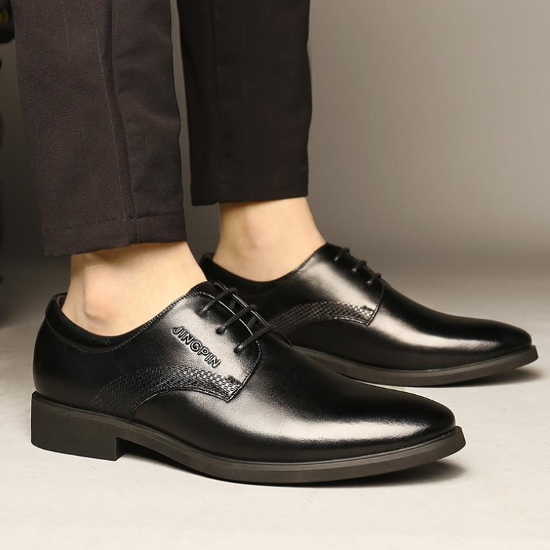 Classic Oxford Shoes For Men Top Quality Mens Genuine Leather Formal Shoes Black Dress Luxury Brogue Office Flat
