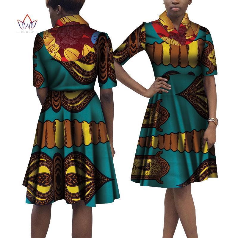 148faaa86294e 2019 Summer African Dress For Women Plus Size African Print Dresses For  Women Knee Length Clothing Woman Natural 6xl Africa WY4090 From Xianfeiyu
