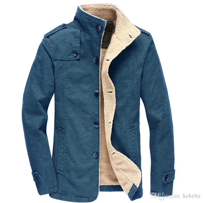 f54594281bf Men s Plush Jacket - Medium And Long Plus Velvet Padded Cotton Suit ...