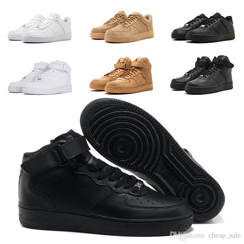 Plein De New Nike Formateur 1 Blanc Blé Un Haut Bas En Mens Femmes Course Noir Et Chaussures Arrive Sneaker Air Force Qsdrth