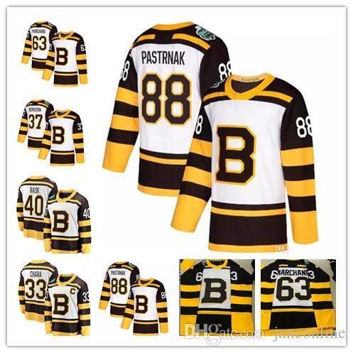 2019 2019 Winter Classic Boston Bruins 33 Zdeno Chara 37 Patrice Bergeron  40 Tuukka Rask Krejci 63 Brad Marchand 88 David Pastrnak Jersey New From ... 930336971