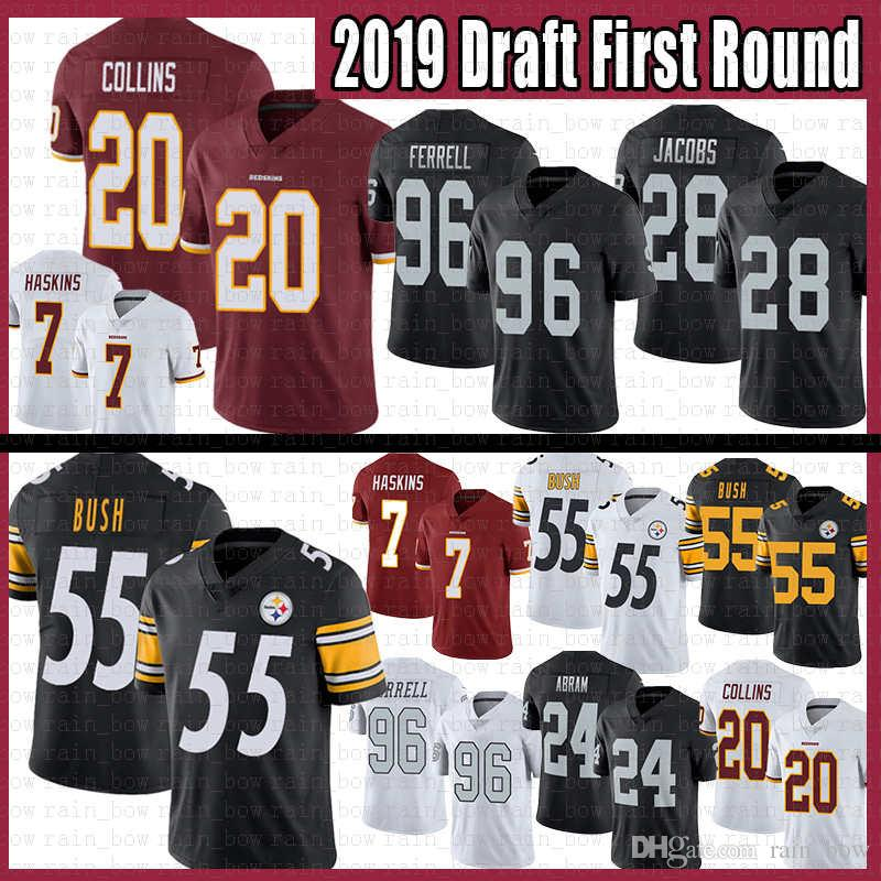 new arrival e114f c1652 55 Devin Bush Steelers Jersey Pittsburgh 7 Dwayne Haskins Washington 20  Landon Collins Redskins Oakland 96 Clelin Ferrell Raiders 28 Jacobs