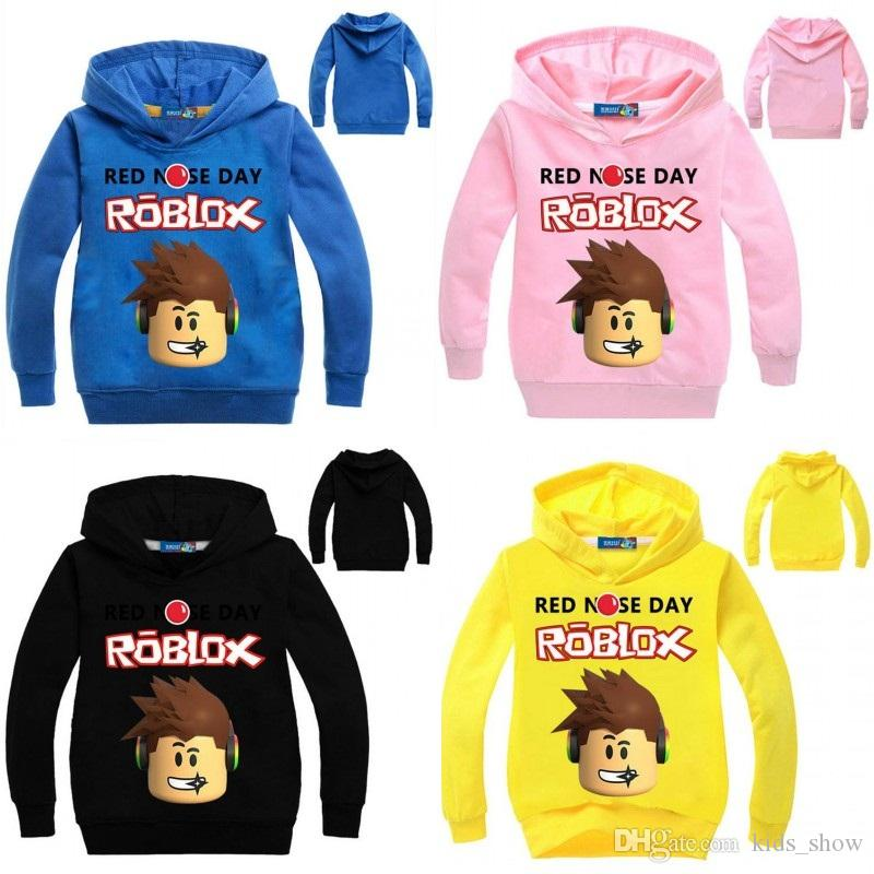 beeae0c3178b48 2019 Roblox Hoodies For Kids Boys Girls Red Nose Day Tops Long Sleeve  Pullover Tees Children Costume Clothing Sweatshirt From Kids show