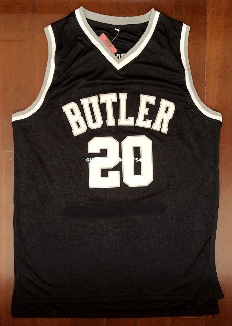 Acheter Personnalisé Pas Cher Maillot De Basketball Gordon Hayward   20  Butler College Noir Cousu Personnalisez Tout Numéro 930b7d4bed8