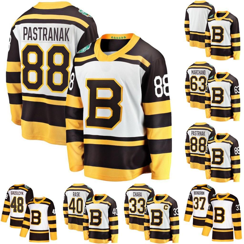 huge selection of da0a7 649ea 2019 Winter Classic Men Boston Bruins 37 Patrice Bergeron 43 Danton Heinen  55 Noel Acciari 40 Tuukka Rask 63 Brad Marchand Hockey Jerseys