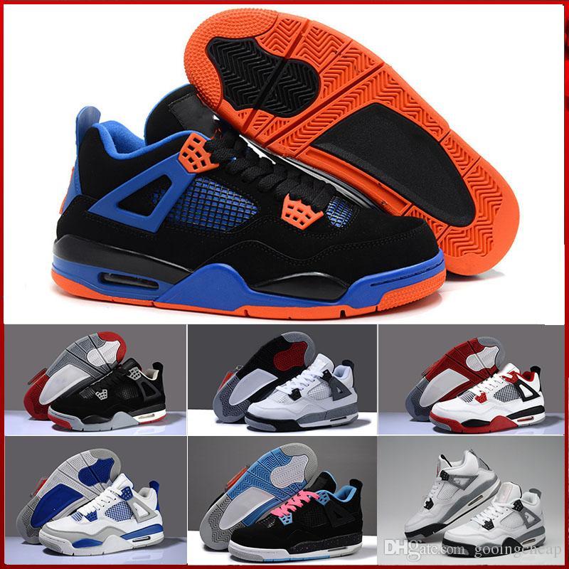 best authentic 71a29 601c3 Acheter Nike Air Jordan 4 Aj4 Retro Chaussures De Sport Spéciales Pour  Hommes Chaussures Pour Femmes NRG Eminem X Carhartt Encore Bleu Noir Blanc  Chaussures ...