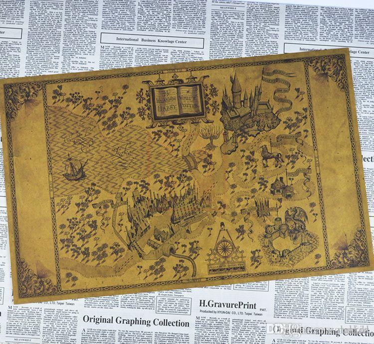 Großhandel Karten Der Zauberhaften Welt Von Harry Potter Poster Film ...