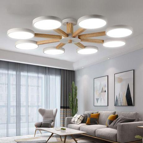 Acquista JESS 220V LED Lampadario Soggiorno Modern White ...