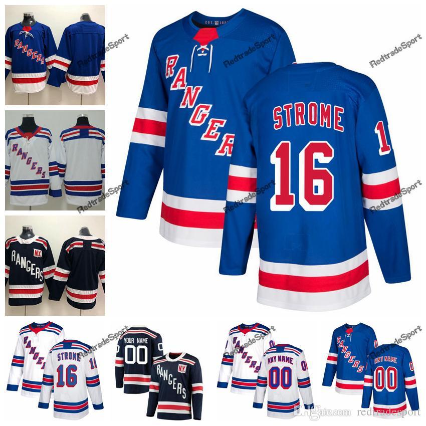 low priced 619c0 5c94c 2018 Winter Classic New York Rangers Ryan Strome Hockey Jerseys Mens Custom  Name Home #16 Ryan Strome Stitched Hockey Shirt S-XXXL