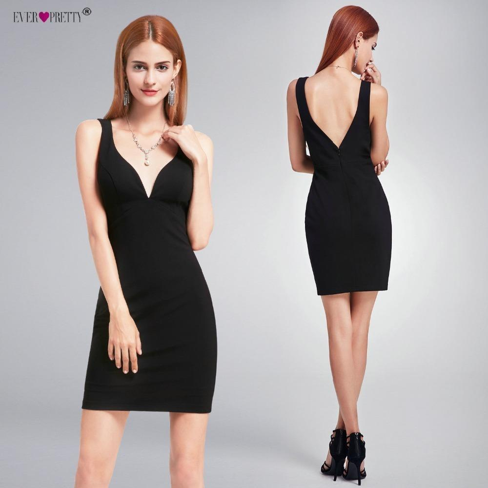 00fb5b46e975 Sexy Cocktail Dresses Ever Pretty EP05851BK New Sleeveless Modern V Neck  Black Short Party Dresses For Women Homecoming Dresses Backless Dress Dress  Shirt ...