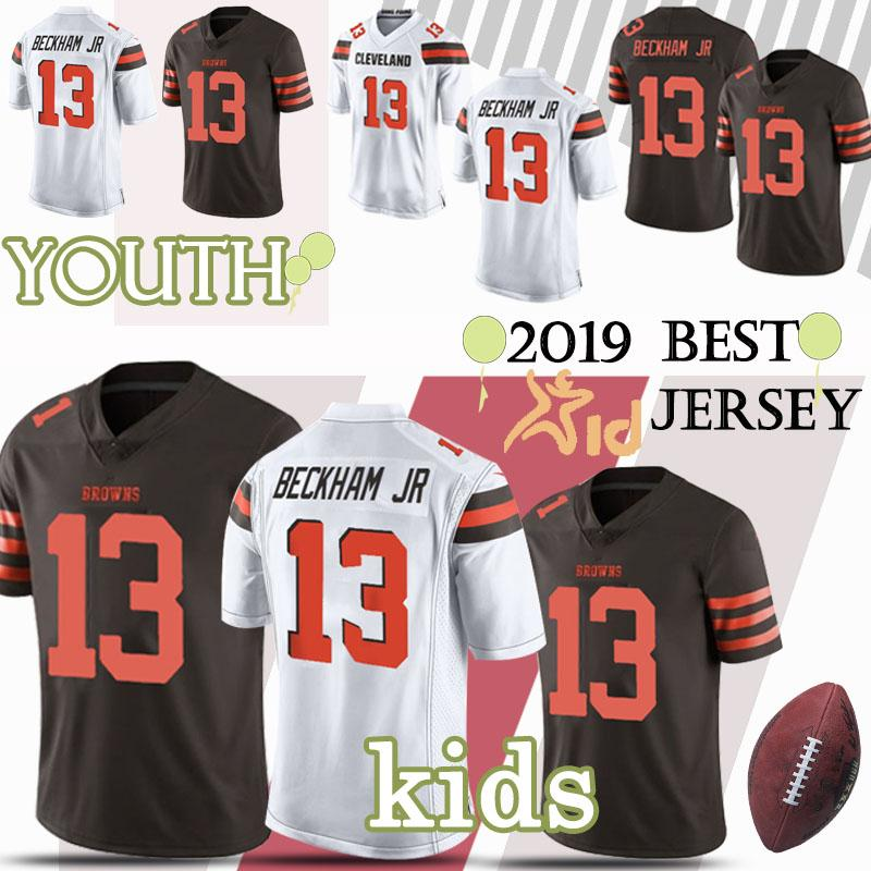 newest c42e3 3086b 2019 Kids Kit 13 Odell Beckham Jr Cleveland jerseys Brown Child Jersey