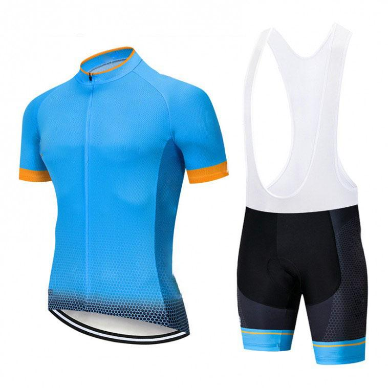 2019 Summer Pro team Short Sleeve Cycling Jersey Bib Shorts Bike Set Clothes Bicycle Clothing