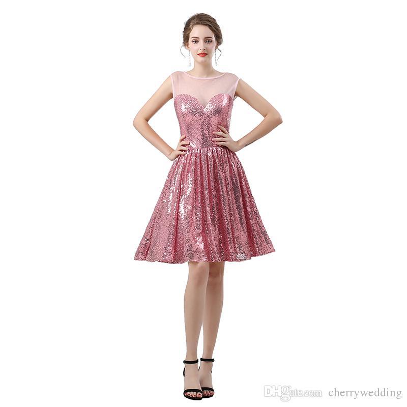 3a78210ad Compre Vestido De Cóctel Lentejuelas Corto De Noche Vestidos Cortos  Formales De Fiesta Vestidos De Fiesta Vestidos De Fiesta Vestidos  Personalizados Colores ...