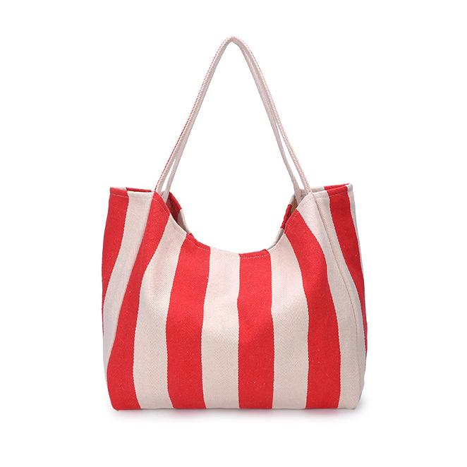 Wholesale Fashion Fresh Style Womens Shoulder Bag Womens Tote Moms Tote Stripes Canvas 3 Colors B102116Z