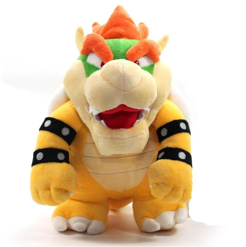 "[ TOP] Catoon Film anime Super Mario 10"" 26cm Bowser dragon Soft Stuffed Plush Toy doll model baby kids best gift"