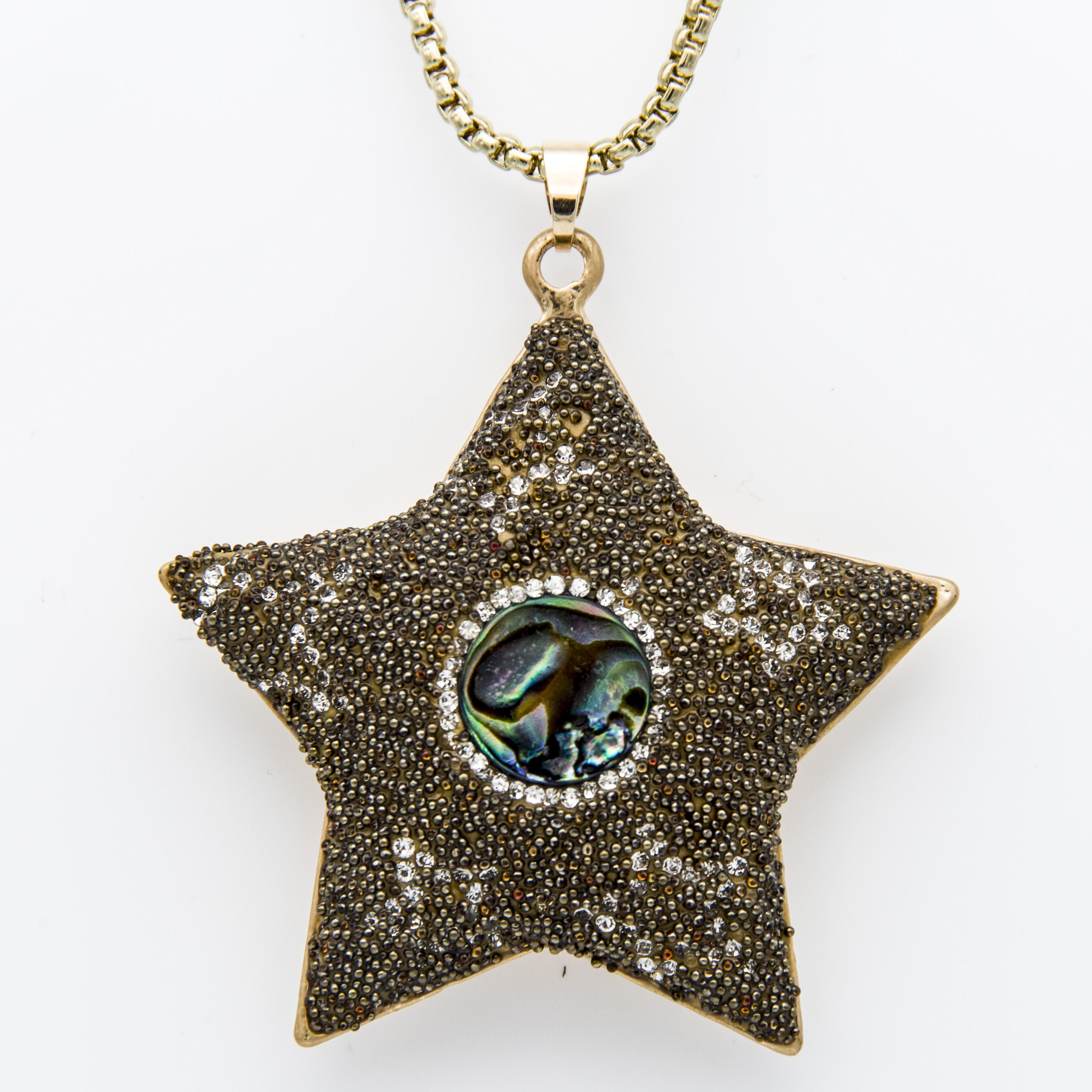 Wholesale New Seed Beads Rhinestone Clay Metal Alloy Pentagon Pendant Chain  Necklace With Natural Shell Jewelry Valentine Gifts For Women Wholesale  Popular ... de8bde395d73