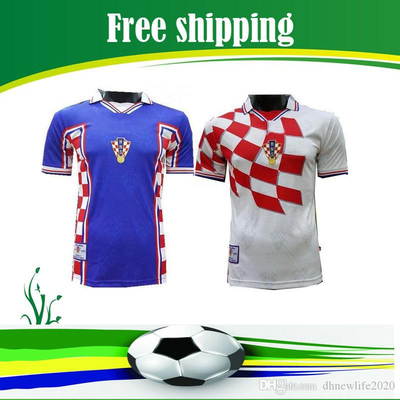 aa2a454c292 2019 1998 Retro Edition Croatia Soccer Jersey 1998 World Cup Soccer Shirt  Croatia Soccer Shirt Short Sleeved Football Uniforms Sale From  Dhnewlife2020, ...