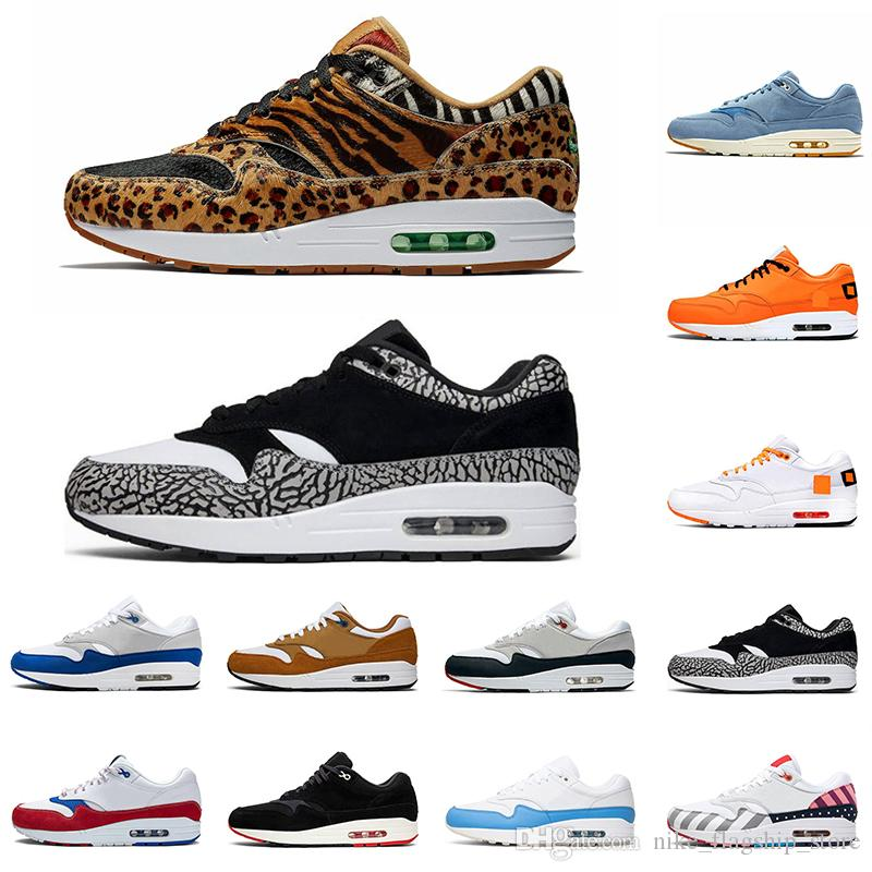 Nike Air Max 1 x Atmos Animal Pack 3.0 Zapatillas deportivas Atmos x Air 1s Animal Pack 3.0 Elephant Parra Bred What The Print Sports Designer