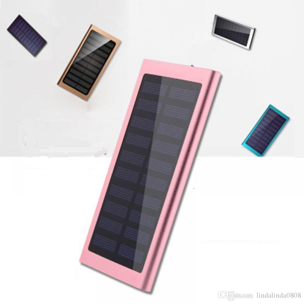 10000mAh Solar Power bank Besiter Universal Portable Power bank 20000 mAh for iPhone 8 7 6 plus Battery