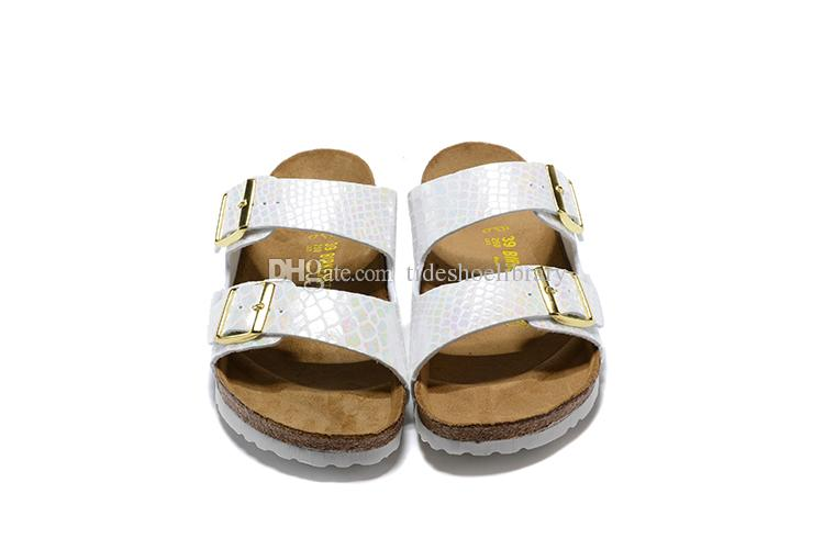 2019 new Birkenhead sandals and slippers couple two rows of buckle serpentine ultra light counter flat shoes for both men and women 35-46
