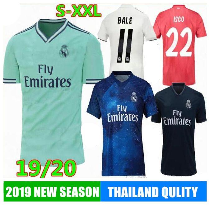 factory authentic b6593 f0dde 2020 REAL MADRID Soccer Jerseys MODRIC LUCAS MORATA BALE KROOS ISCO BENZEMA  Ronaldo Football Shirts calcio SERGIO RAMOS 19