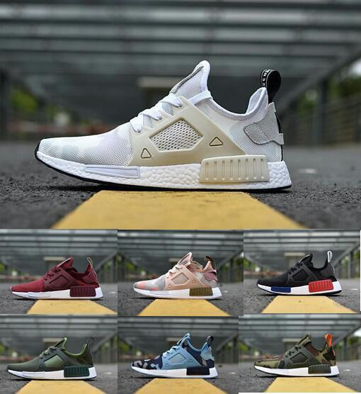 a16eedf0baf46 2019 NMD XR1 Running Shoes Mastermind Japan Skull Fall Olive Green Camo  Glitch Black White Blue Zebra Pack Men Women Sports Shoes 36 45 Pink Shoes  Vegan ...