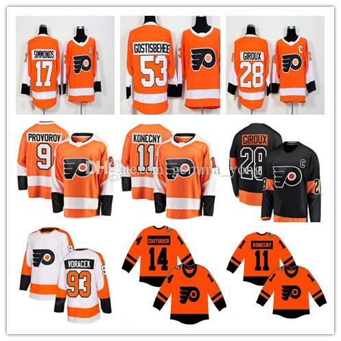 detailed look f3724 3a904 Stadium Series 2019 Philadelphia Flyers Jersey Claude Giroux Wayne Simmonds  Gostisbehere Nolan Patrick Voracek Konecny Provorov Men's Youth