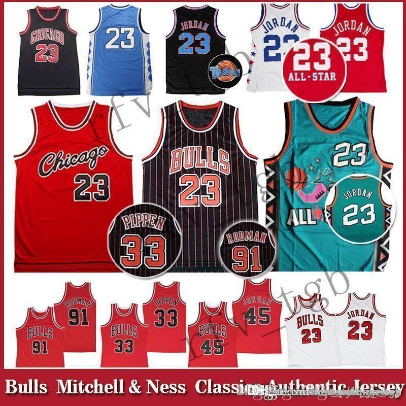 82904c7ddb5 2019 Classics Scottie 23 Michael Space Jam Tune Squad Bulls Jerseys Chicago  Men Youth Dennis 91 Rodman Scottie 33 Pippen Dunk Jersey Bulls From ...