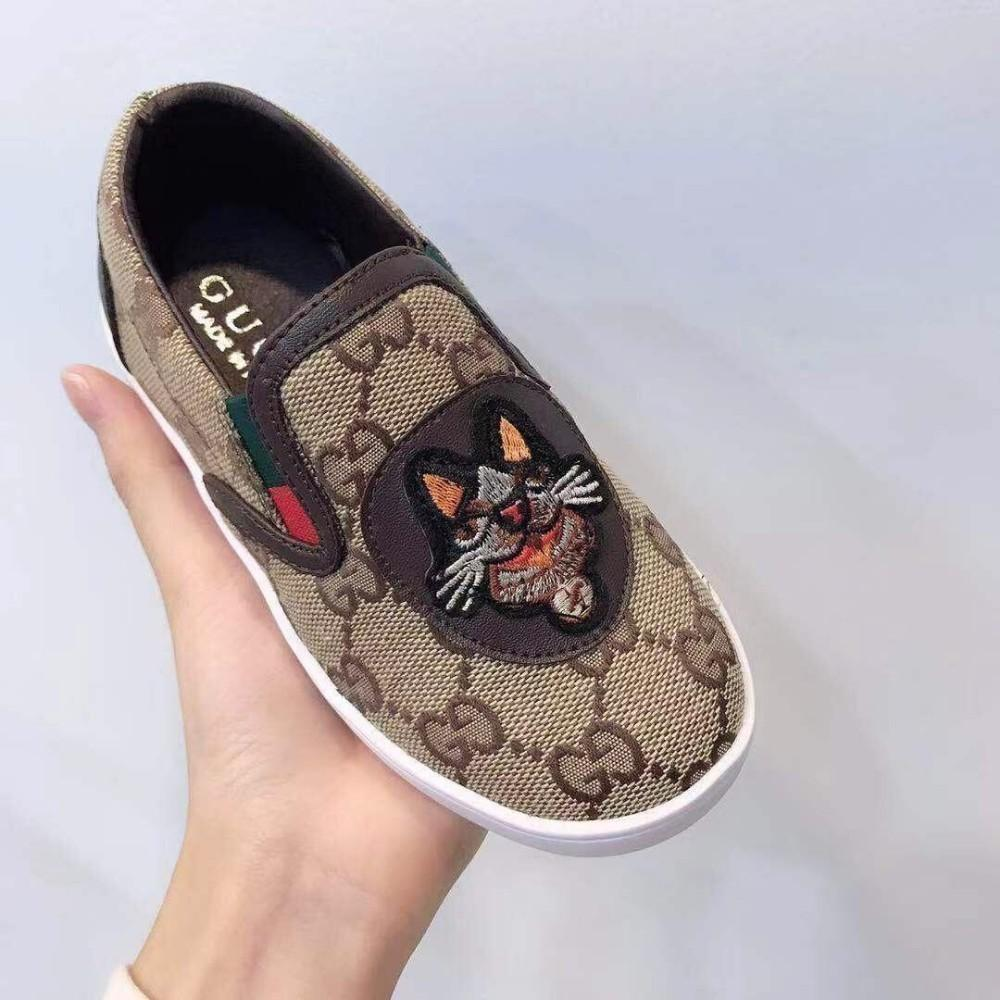 kids boys Girl casual shoes New waterproof canvas tiger head embroidery decoration summer fashion guc-662