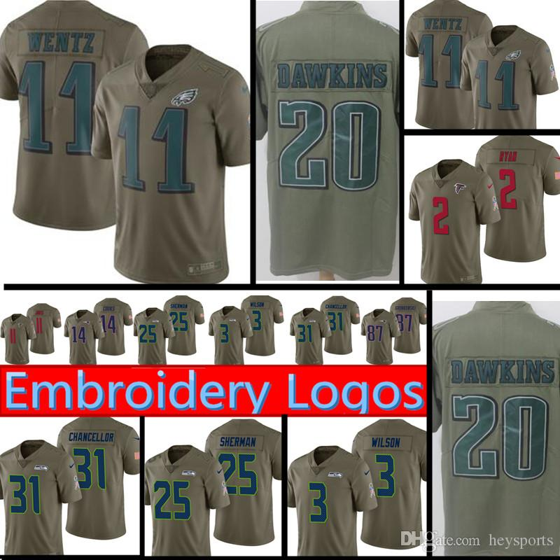 ef00a963271 2017 Salute to Service Philadelphia Eagles Jersey Mens 11 Carson ...