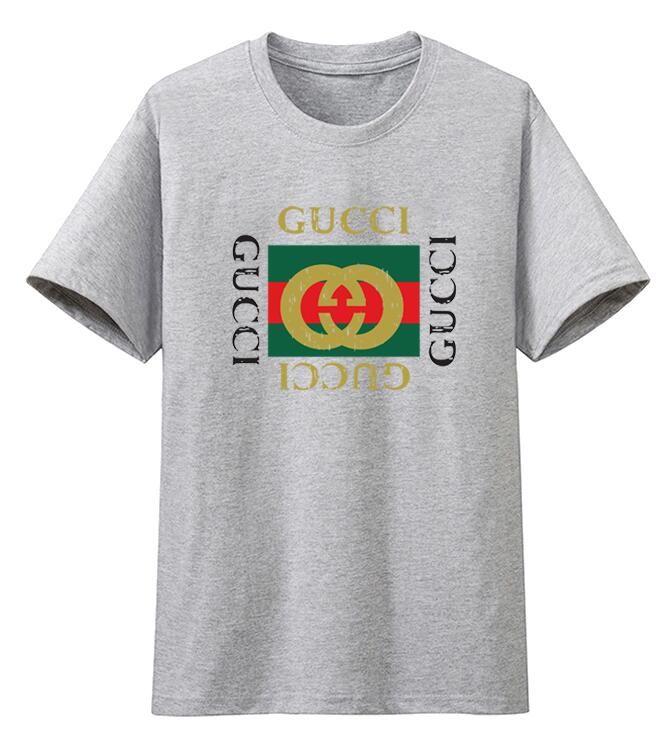 67d23c9f201 Wholesale New Fashion Design GUCCI Men T Shirt Top Quality Cotton Mens  Summer Short T Shirt Hot Black