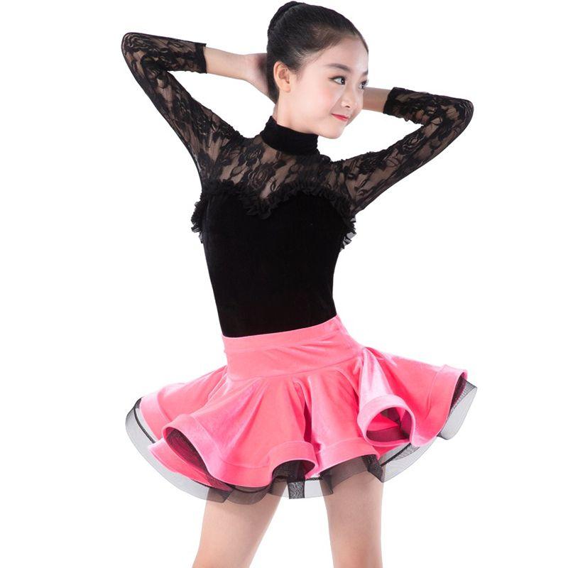 02c65fac3 2019 Girls Latin Dance Costume Fashion Lace Tango Cha Cha Salsa Samba Rumba  Performance Dance Wear Ballroom Practice Clothes DC2030 From Viviant, ...