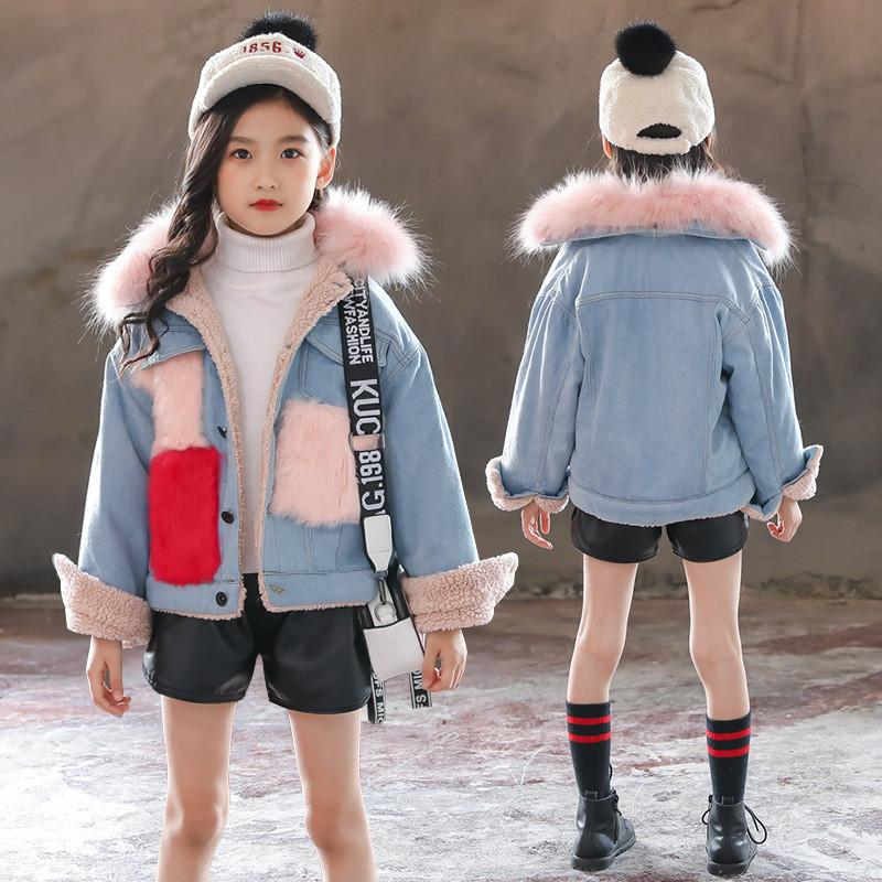 a7c874511 2019 Autumn Winter Children Kids Girls Velvet Thick Warm Jeans ...