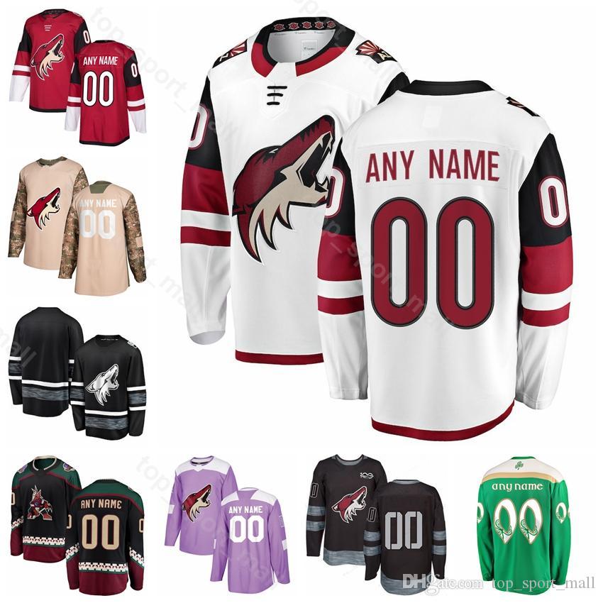 info for d4783 ec903 Custom Arizona Coyotes Hockey 33 Alex Goligoski Jersey 25 Nick Cousins Brad  Richardson Lawson Crouse Oesterle Jakob Chychrun Fights Cancer