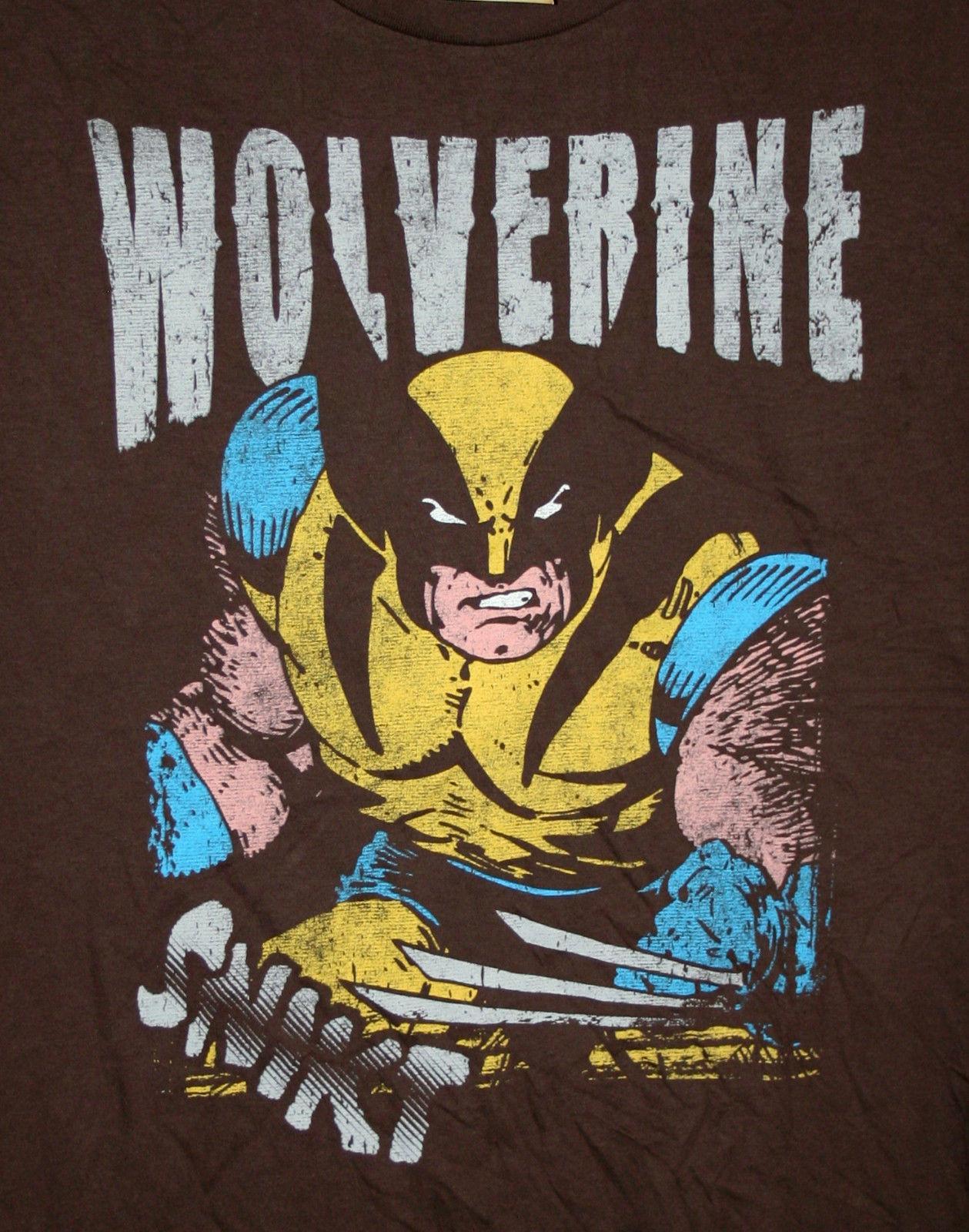 b40ec8bd5 Marvel Comics Classic Wolverine X Men Comics Brown T Shirt New LG Tag Mad  Engine Men Women Unisex Fashion Tshirt Black Random Graphic Tees Quirky T  Shirt ...