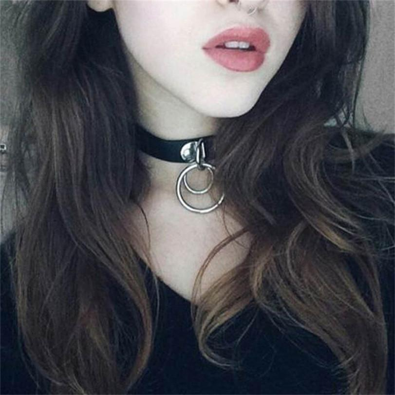 Morease Punk Sexy Necklace Neck Double Ring bdsm Bondage Erotic Adult Games For Women brinquedos sexo Sex Toys For Women C18112701