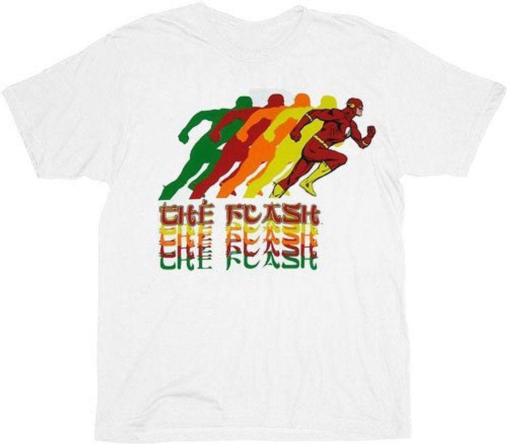 e57d41d5abff2 Acheter Tee Shirt Tee Shirt Blanc Pour Adultes DC Comics The Flash Super  Hero De  11.83 Du Twofulcup   DHgate.Com